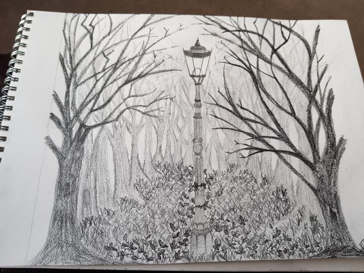 More detailed drawing. The forgotten lamppost.