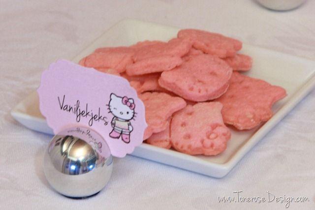 Hello Kitty sugar cookies pink - rosa vaniljekjeks