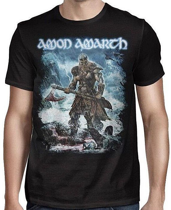 Amon Amarth - Jomsviking Tour Black 2-Sided T-shirt - BRAND NEW #Gildan #GraphicTee
