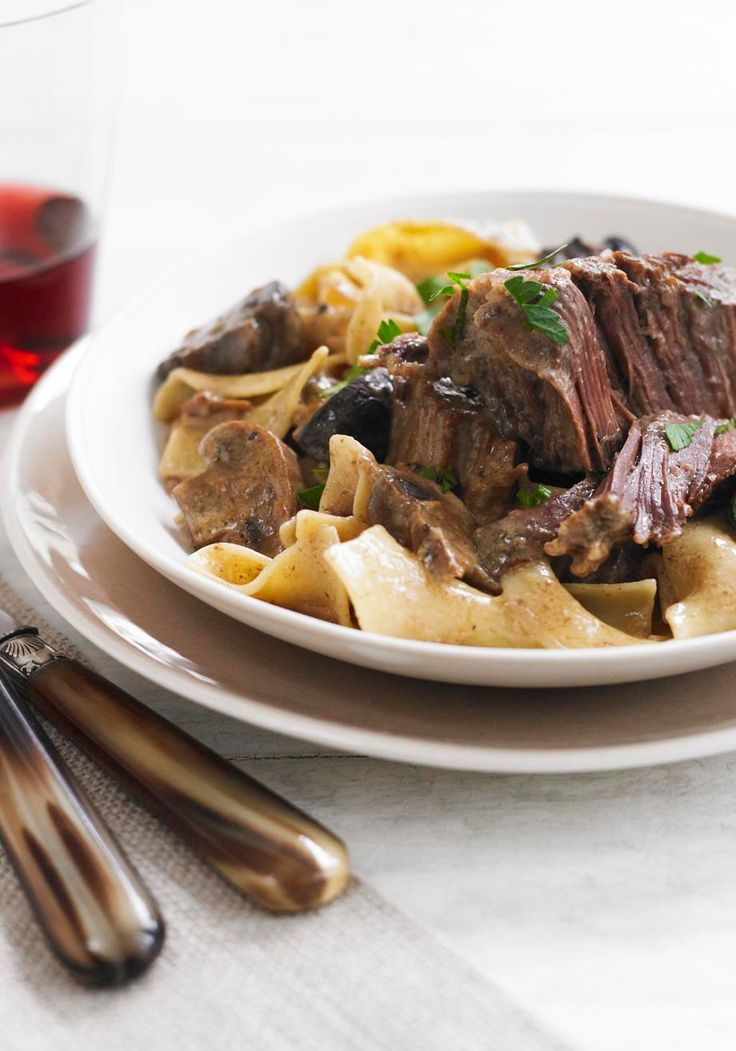 Short ribs, Sour cream sauce and Stroganoff recipe on Pinterest
