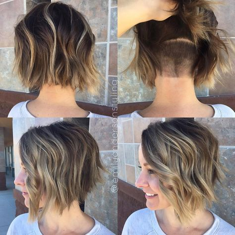 """1,668 Likes, 24 Comments – Arizona Hairstylist (@emilyandersonstyling) on Instagram: """"The hidden undercut that makes this babes life so much easier…."""