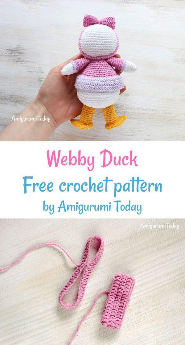 Webby Duck amigurumi pattern   amiguruami patterns to buy