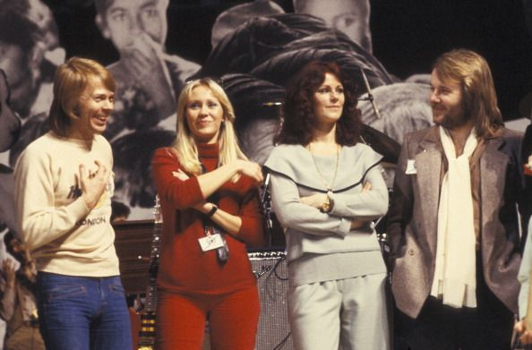 ABBA performing on stage at a Unicef Gala on January 8th 1979 in New York