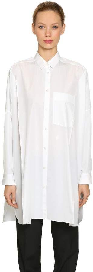 Jil Sander Oversize Sunday Cotton Poplin Shirt