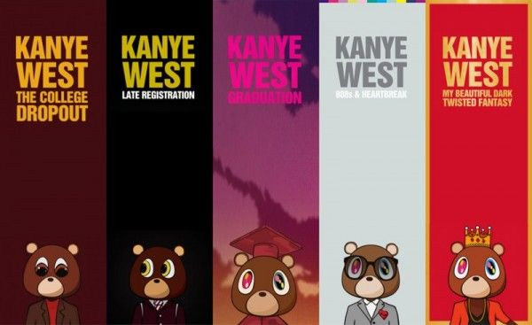 kanye west album covers collage