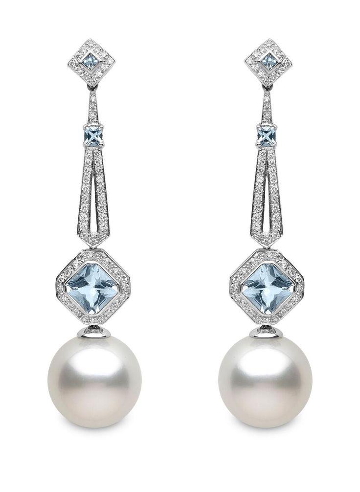 Yoko London. Elegant drop earrings for evening.