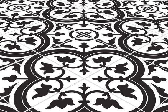 Tile Stickers Black Fatima Quart Tile Decal Vinyl Stickers Floor Flooring Bathroom Kitchen Decor Stair Self Adhesive Peel And Stick T182 In 2020 Tile Decals Vinyl Vinyl Sticker