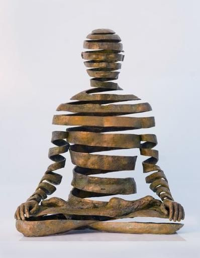 Bronze sculpture by UK artist Sukhi Barber, who spent twelve years in Kathmandu, Nepal studying Buddhist philosophy and lost-wax bronze casting.