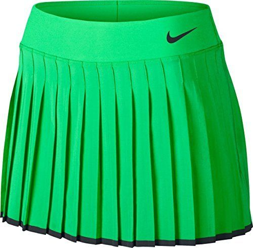Nike Womens Nike Court Victory Tennis Skirt Electro GreenBlack 728773300 Size Medium * You can get more details by clicking on the image. #BoutiqueDisplay