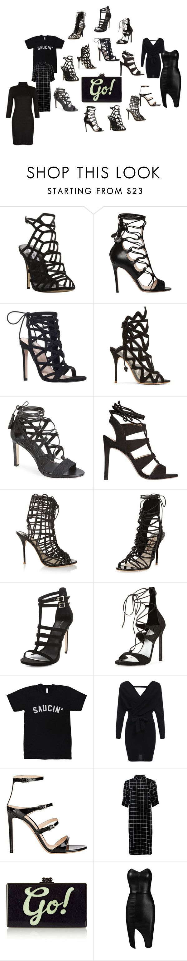"""on rotation"" by thispersonsays ❤ liked on Polyvore featuring Steve Madden, Etro, Carvela, Sophia Webster, Elie Tahari, New Look, Stuart Weitzman, Gianvito Rossi, Edie Parker and Posh Girl"