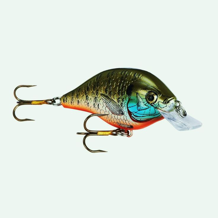 Rebel lures squarebill color bluegill lures pinterest for Bluegill fishing lures