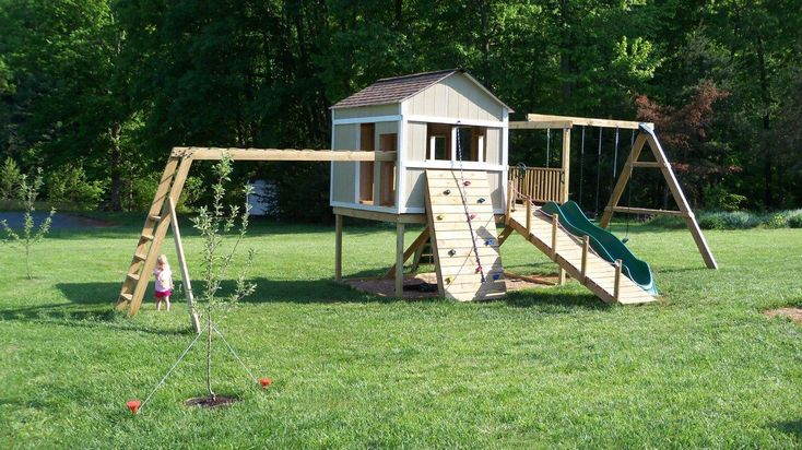 Swing set plans do it yourself clubhouse based on ana 39 s for Do it yourself swing