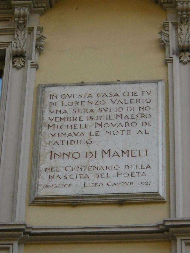 In via XX settembre a #Torino la casa in cui venne composto l' #Inno di #Mameli, l'Inno d' #Italia.