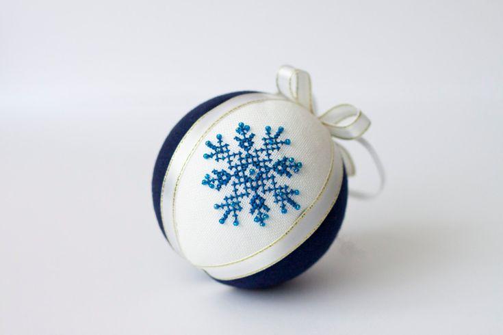 Adornos de Navidad ropa de bola azul marino decoración por RedPin
