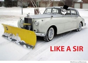 Like a sir: Like A Boss, Funny Pics, Like A Sir, Funny Pictures, Luxury Cars,  Snowplough, Rolls Royce, Funny Photo, Snow Plowing