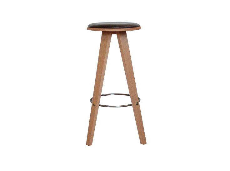 Viggo Bar is a classic barstool, with many interesting details, made in the best quality materials. The wooden leg construction meets underneath the seat, and provides great stability with a timeless look. The seat is upholstered, and the footrest is mounted with brass bolts #danerka #shapingyourday #designerfurniture Design by mencke&vagnby