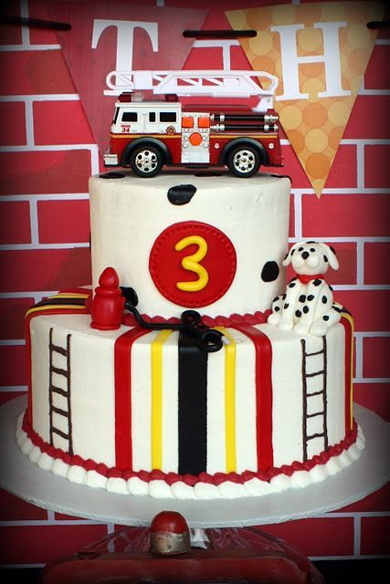 fire truck cake truck birthday cake complete with engine 4072