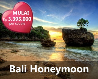 Bali Honeymoon. Enjoy romantic honeymoon in Bali. Package from IDR 3.395.000/Couple. For inquiries and reservation, contact Ezytravel: 021-2316306 or check: www.ezytravel.co.id