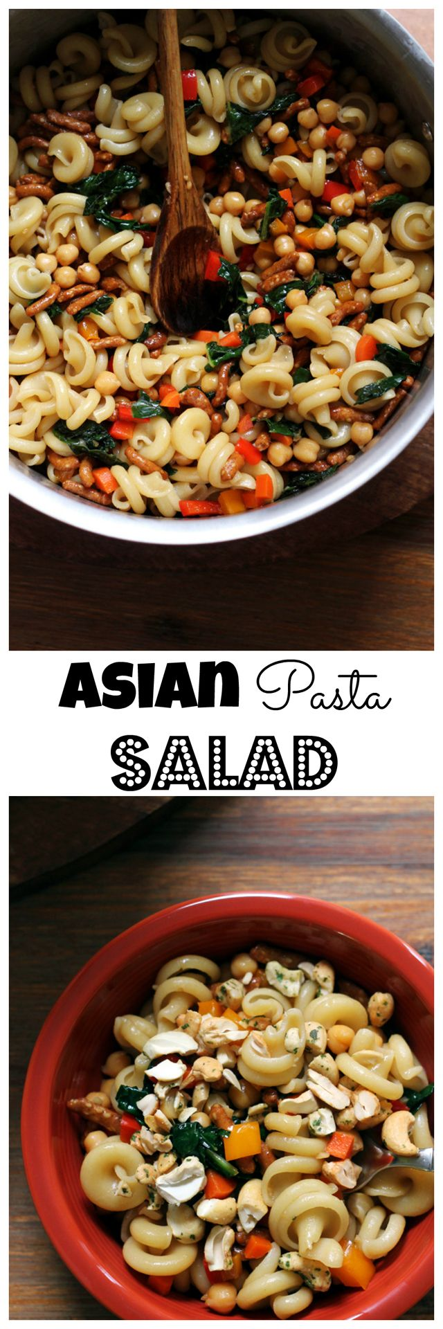 Move over mayo-drenched pasta salads, this Asian pasta salad is dressed with a sweet-salty sesame vinaigrette and filled with fresh vegetables.