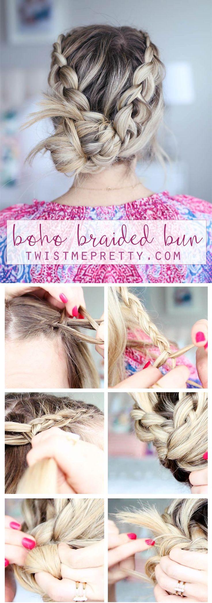 best 25 braided bun tutorials ideas on pinterest buns