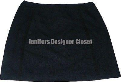 NWT MARC JACOBS mini skirt 10 linen wool fully-lined designer runway navy career