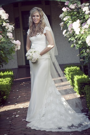 Beautiful lace wedding gown www.awomanstouchphotography.com.au