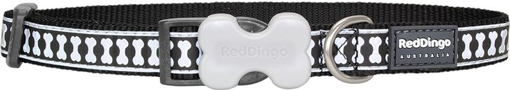 Red Dingo Reflective Dog Collar, Small *** You can find out more details at the link of the image.