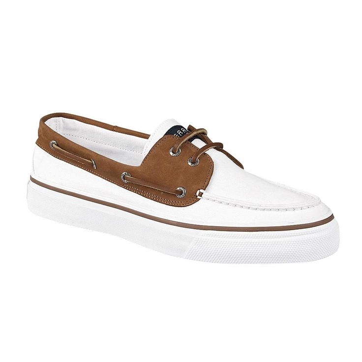 Mens Sperry Top Sider Bahama Casual Shoe White To The