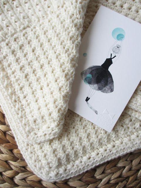 DIY / TUTO - Couverture pour bébé en crochet / Crochet baby blanket tutorial