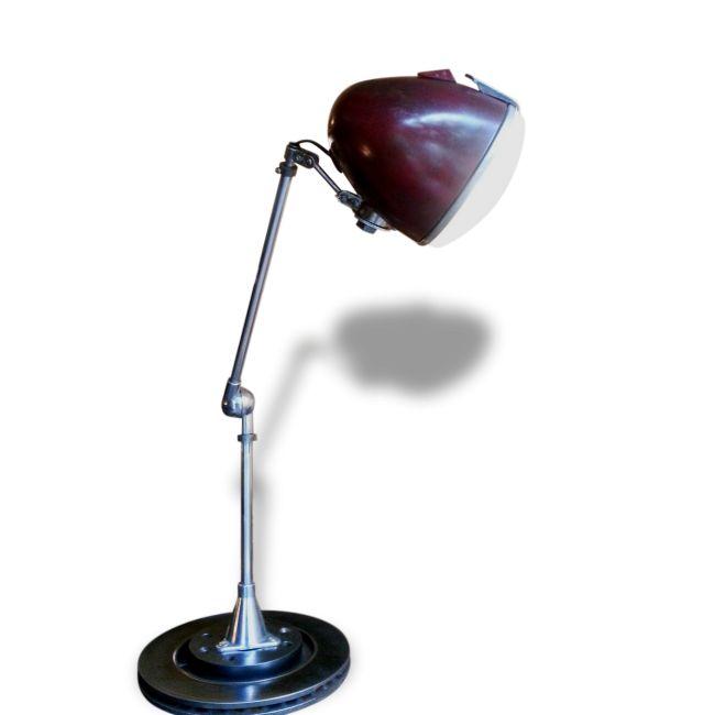 Lampe d'atelier phare 2CV rouge