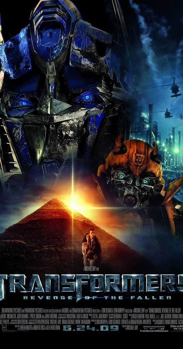 Directed by Michael Bay.  With Shia LaBeouf, Megan Fox, Josh Duhamel, Tyrese Gibson. Sam Witwicky leaves the Autobots behind for a normal life. But when his mind is filled with cryptic symbols, the Decepticons target him and he is dragged back into the Transformers' war.