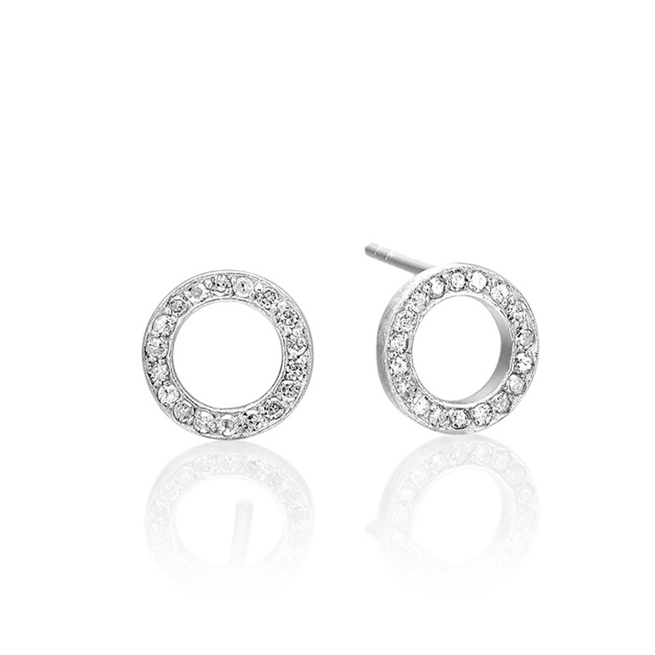 Cosmos earsticks in silver with diamonds.http://anettewille.dk