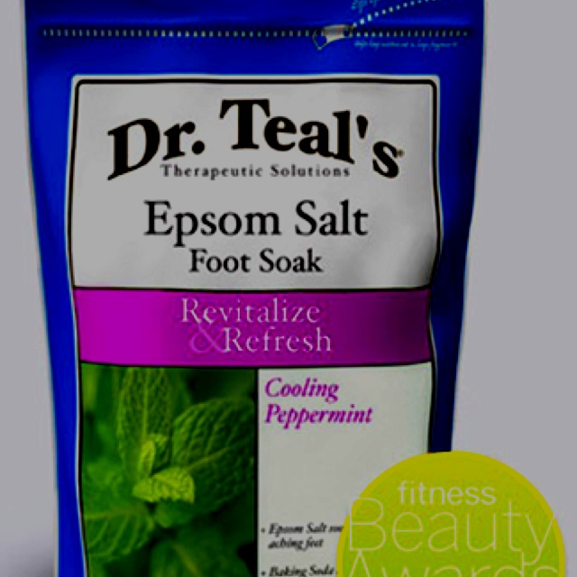 Dr  Teal's Peppermint Epsom Salt Foot Soak    This stuff is the best