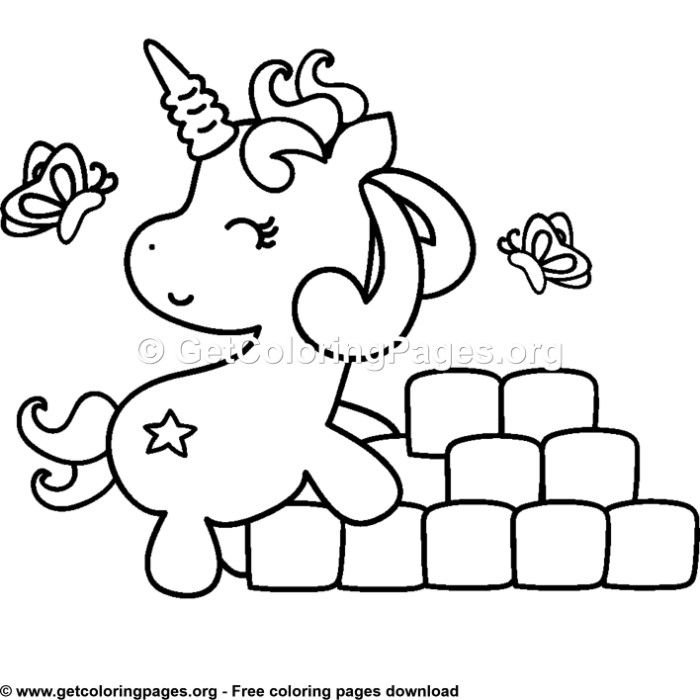 104 Cute Cartoon Baby Unicorn Coloring Pages Unicorn Themed