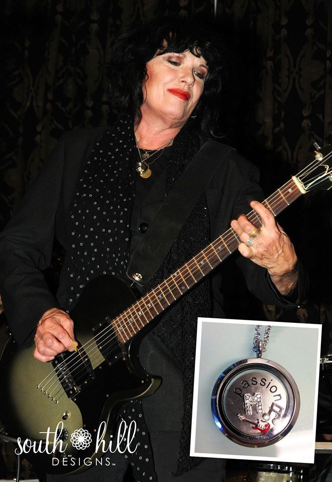 Rock legend Martha Davis of the Motels wearing South Hill Designs by Melissa Dare!  www.southhilldesigns.com/melissadare #southhilldesigns #charms #lockets #jewelry #musician #love #fashion #celebrities #unique #gifts #us #uk #canada #mexico #joinmyteam #workfromhome #opportunity