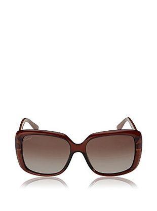 Gucci Women's GG3574 Sunglasses, Dark Brown Transparent