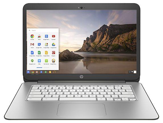 HP Chromebook - 14-x050nr Touch: Touchscreen version of the HP Chromebook 14 with double the storage. 4GB RAM, 32GB Hard Drive