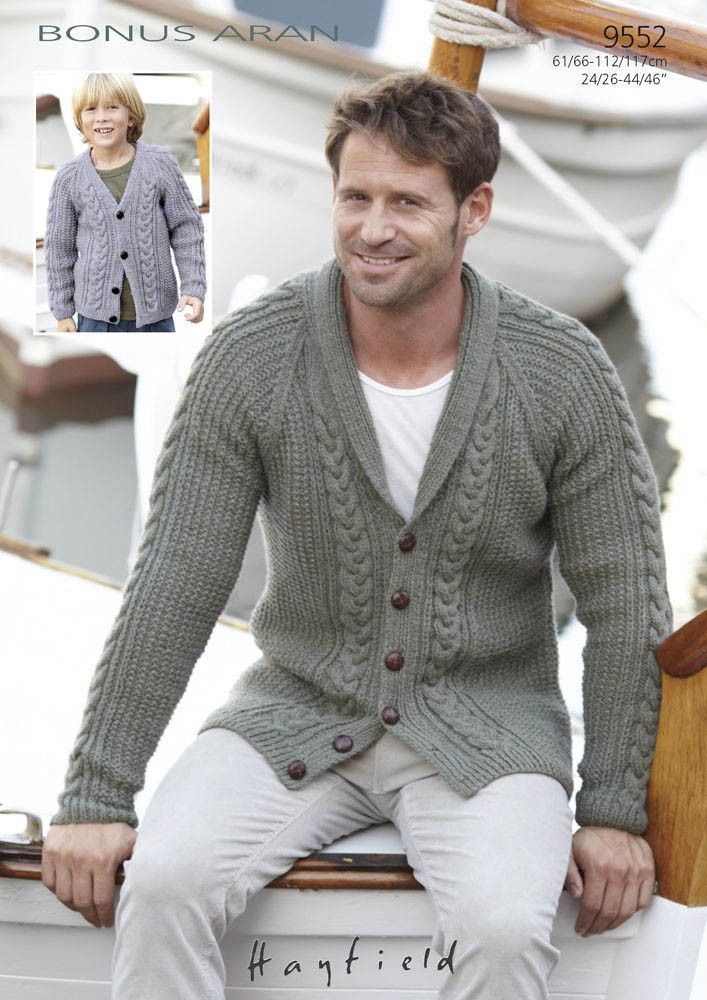 Mens Knitted Cardigan Pattern : 1000+ ideas about Aran Knitting Patterns on Pinterest Double Knitting Patte...