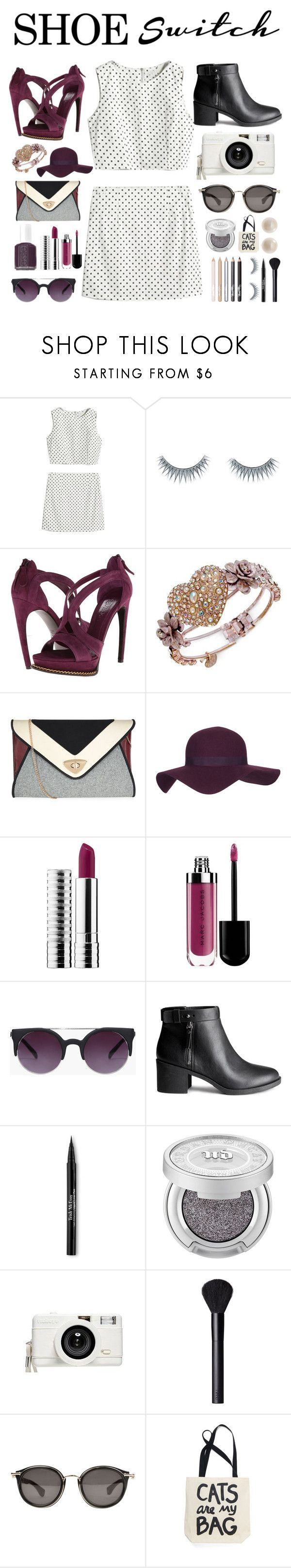 """clueless #8"" by hannahbees ❤ liked on Polyvore featuring Pop Beauty, Napoleon Perdis, Alexander McQueen, Betsey Johnson, Topshop, Clinique, Essie, H&M, Trish McEvoy and Urban Decay"