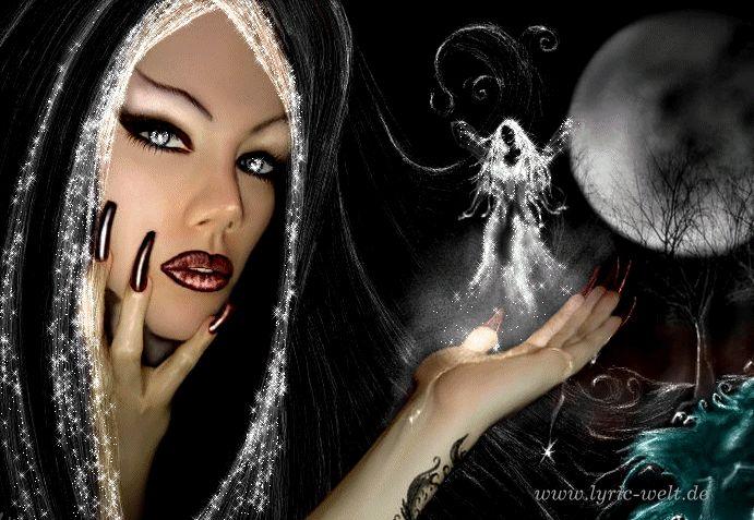 Анимированные картинки ведьма