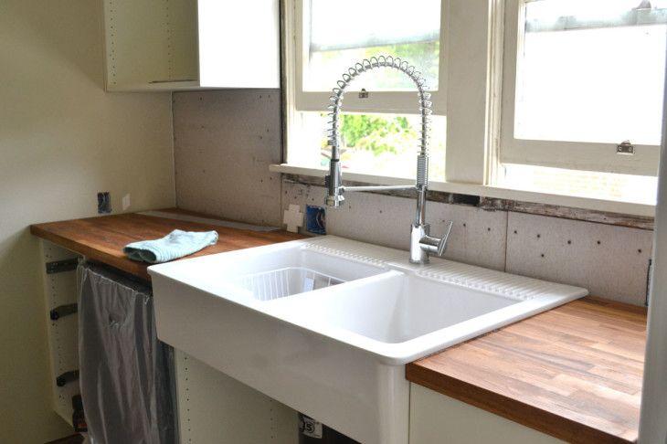 Kitchen Amazing Ideas For Kitchen Decoration Using 2 Bowl Farmhouse Kitchen - pictures, photos, images