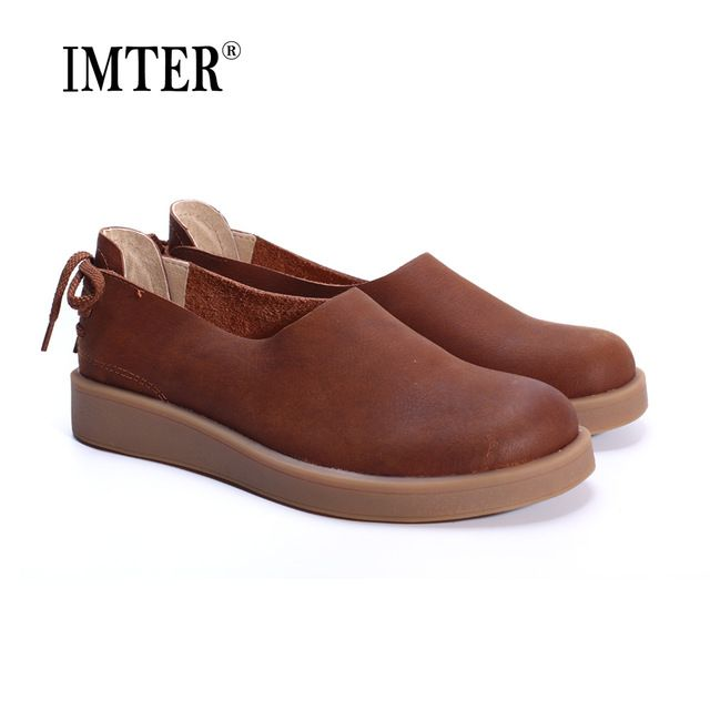 Buy now Women Shoes Flat 100% Authentic Leather Ladies Flat Shoes Round Toe Mary Jane Flats Female Footwear  (1023-1) just only $38.45 with free shipping worldwide  #womenshoes Plese click on picture to see our special price for you