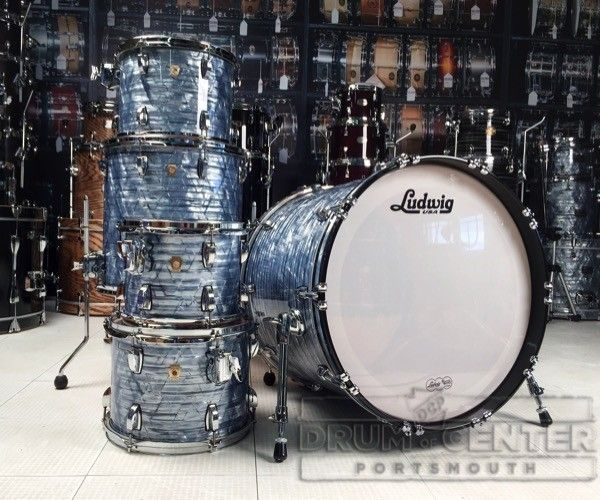 Used Ludwig Classic Maple 5 Piece Sky Blue Pearl Drum Set - Used Drum Sets - Used : Drum Center of Portsmouth