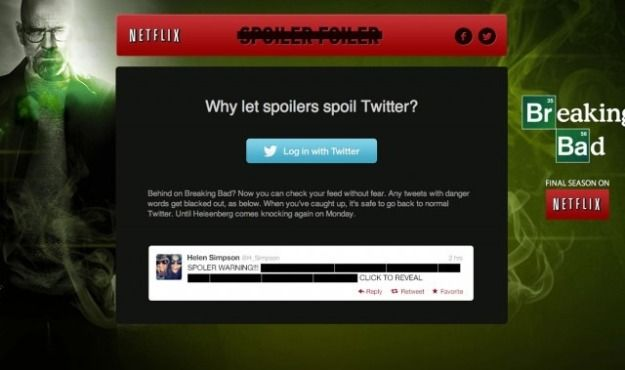 Awesome.  Netflix App Blocks Breaking Bad Spoilers From Fans' Social Feeds - PSFK