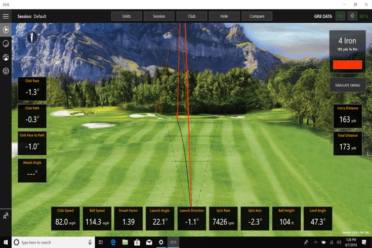 Ernest sports perfect vision launch monitor indoor golf