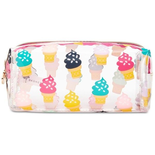 Macy's Printed Makeup Bag found on Polyvore featuring beauty products, beauty accessories, bags & cases, ice cream, travel toiletry case, toiletry kits, make up purse, cosmetic purse and dop kit