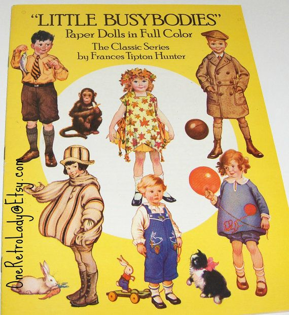 This is so cute. Book of Little Busybodies Paper Dolls Classic by OneRetroLady, $8.00