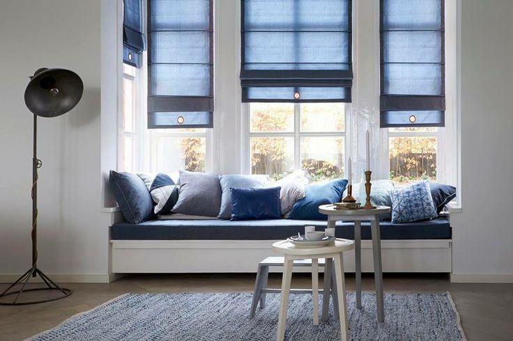 Maak je interieur af met schitterende vouwgordijnen. Vouwgordijnen geven een ruimte een warme uitstraling en doordat alle stoffen uit de collectie ook geschikt zijn voor gordijnen, kun je altijd een passende combinatie maken!