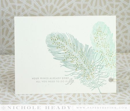 Your Wings Exist Card by Nichole Heady for Papertrey Ink (January 2014)