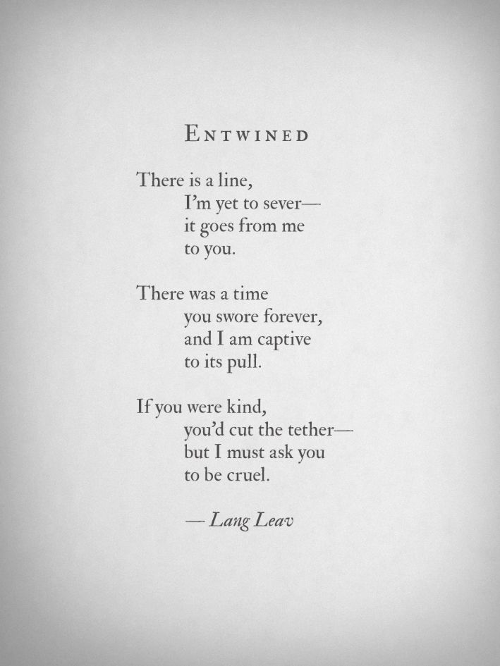 LOVE THIS SO MUCH. Lang Leav